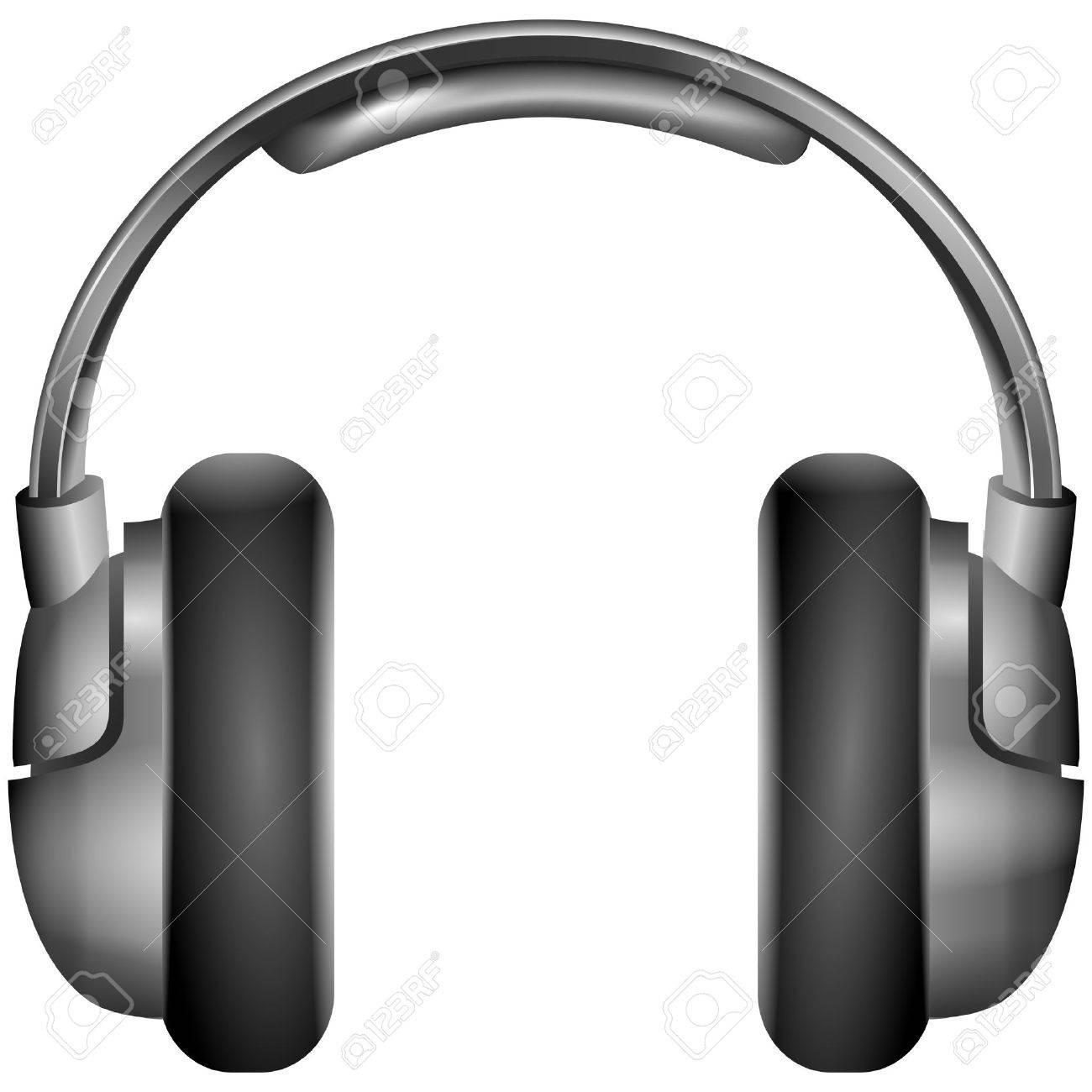 Isolated metallic headphones illustration Stock Vector - 19118592