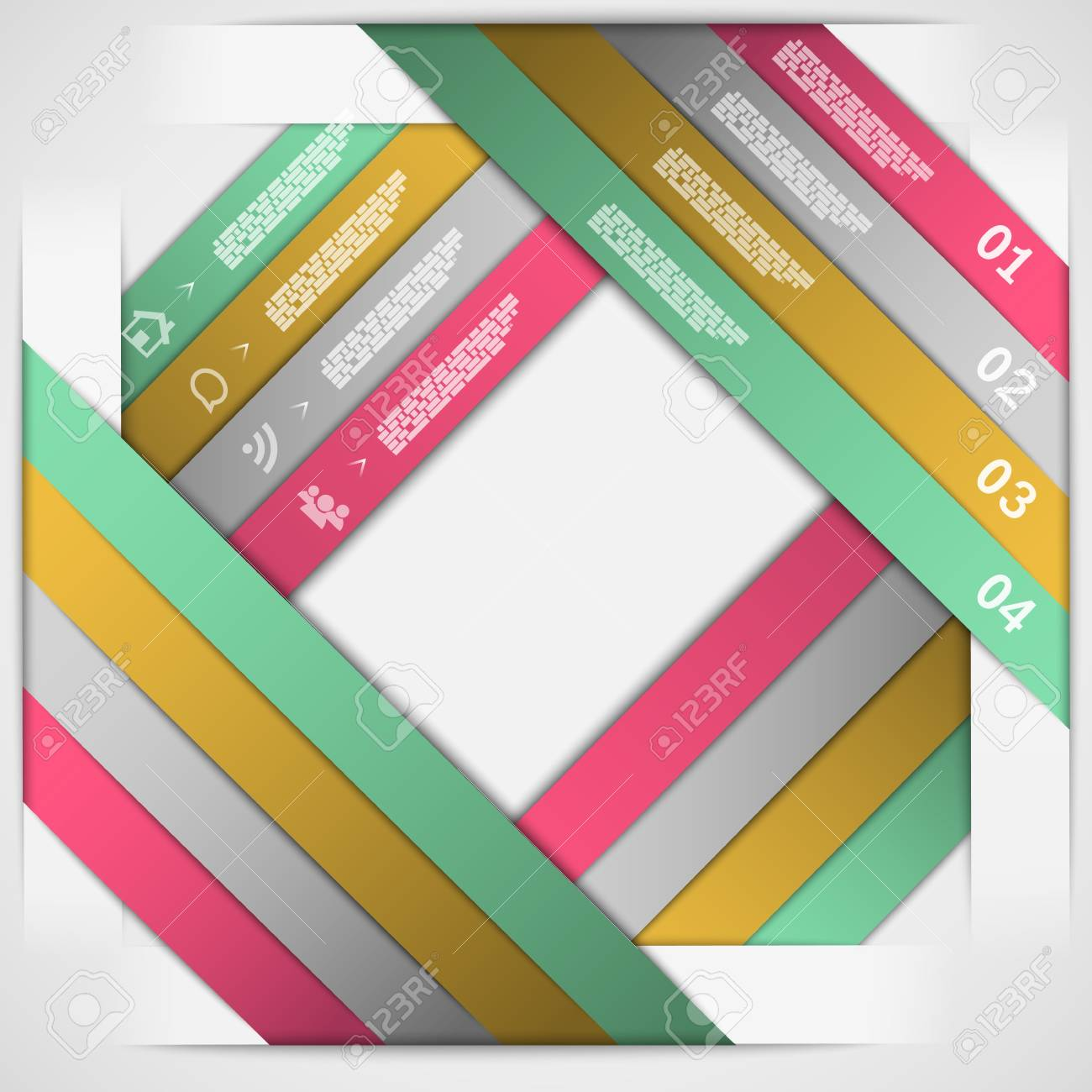 Paper strips choice template  illustration Stock Vector - 20227724