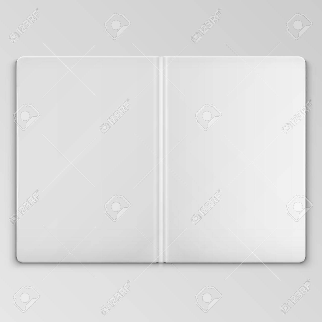 white open book cover template royalty free cliparts vectors and