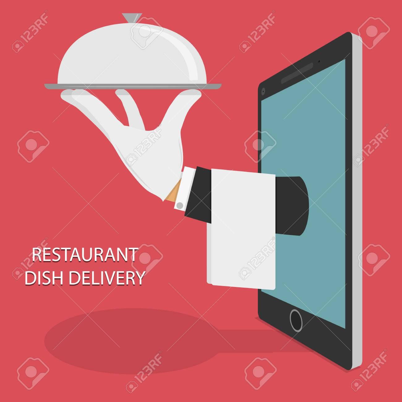 Restaurant Food Delivery Concept Illustration. - 39492853