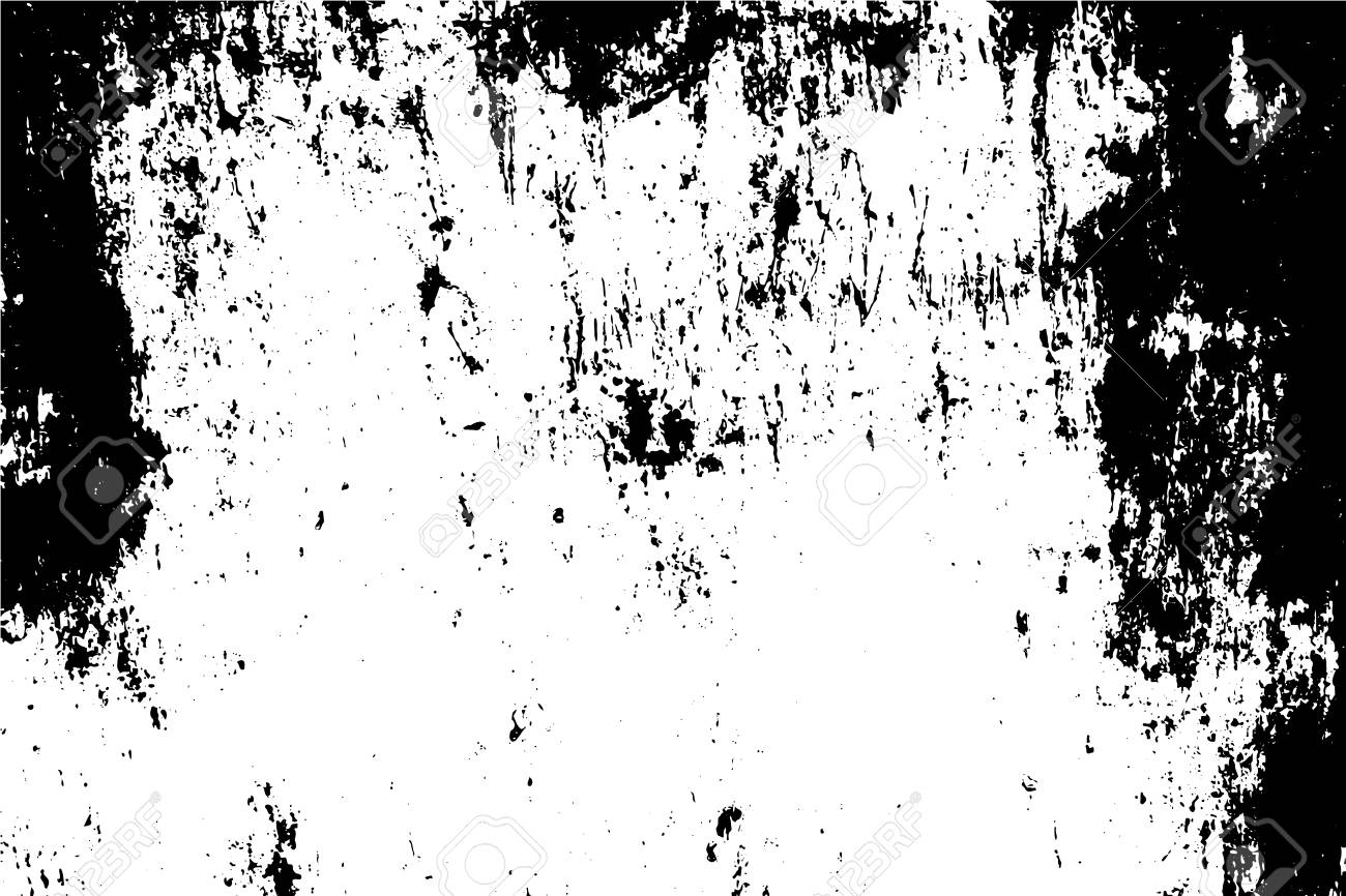 Rusty Black And White Metal Texture Background For Creation Abstract Vintage Effect With Noise Grain