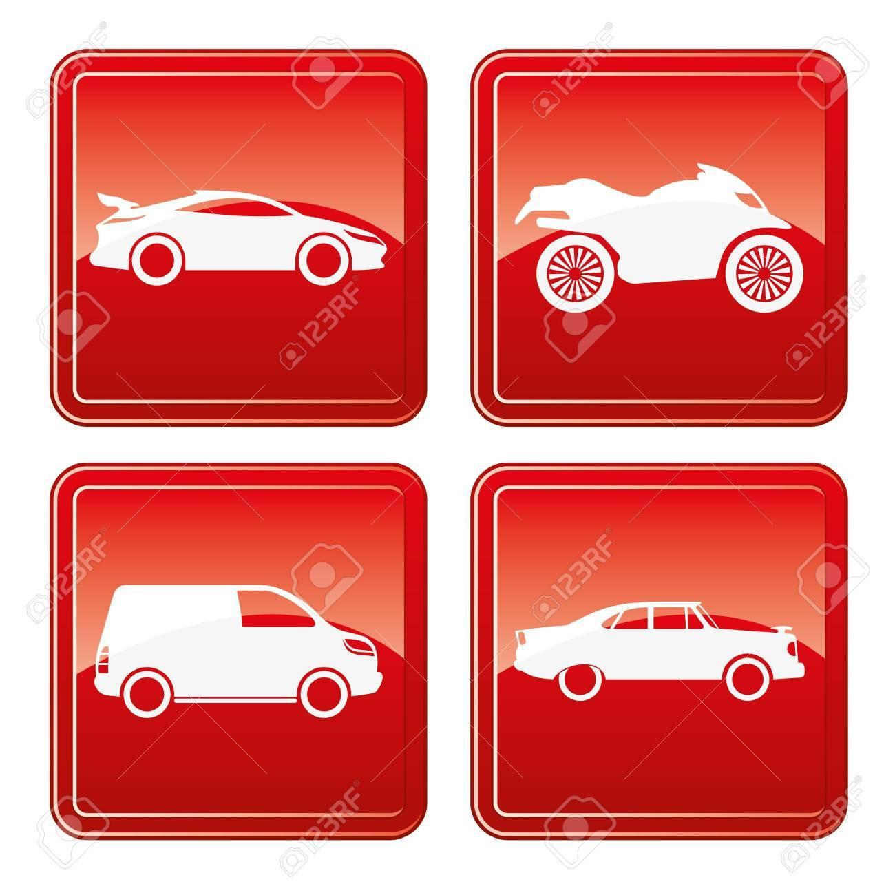 Vector  4 transportation icons Stock Vector - 21609776
