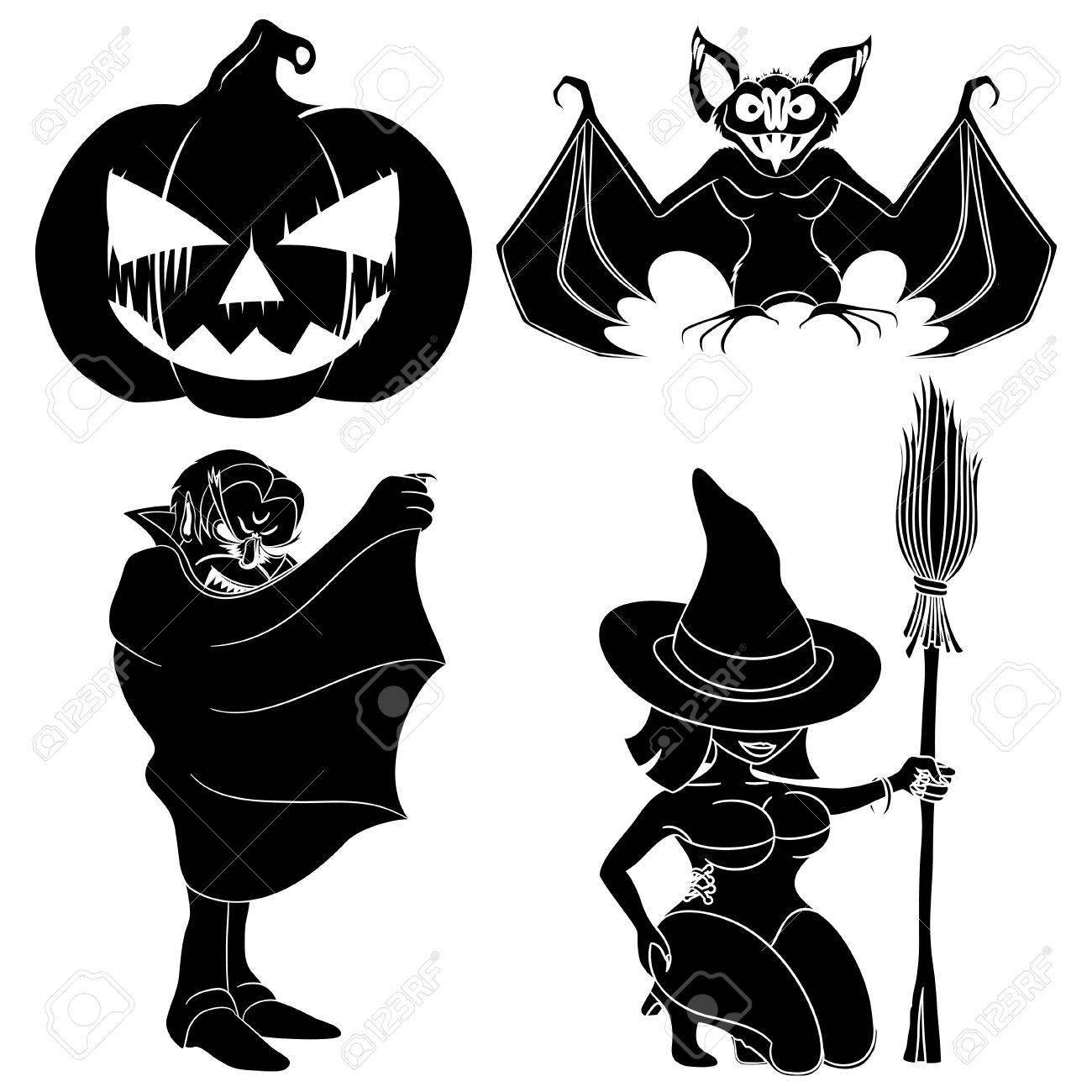 Halloween set Stock Vector - 23258630