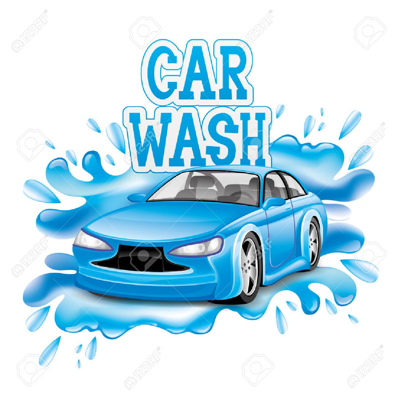 car wash sign stock vector 28419599
