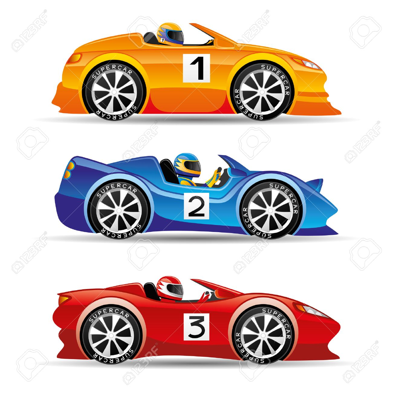 Racing Cars Royalty Free Cliparts Vectors And Stock