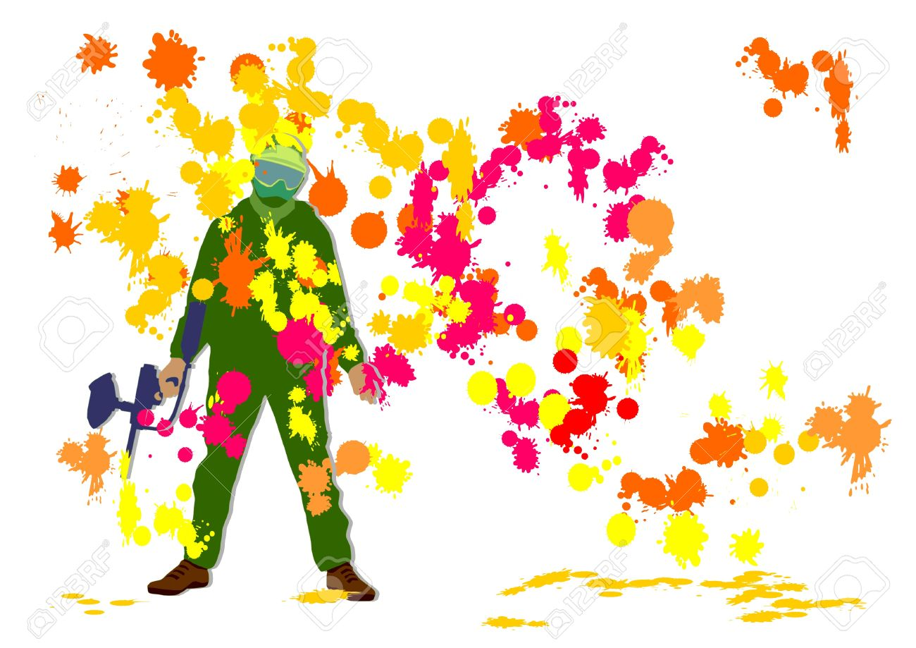 Paintball on a background from blots Stock Photo - 11744937
