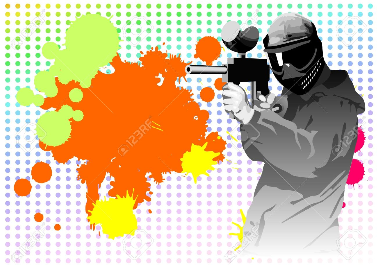 Paintball on a background from blots Stock Photo - 11744934