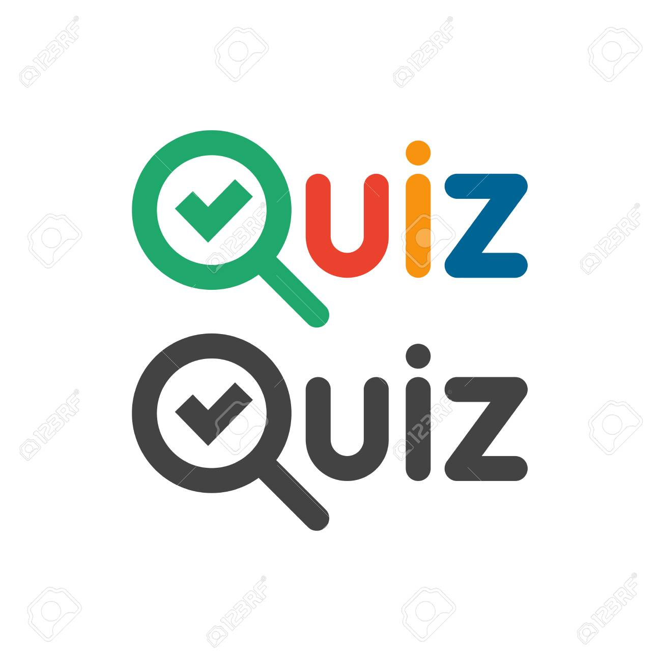 Quiz game show button logo  Quizzes and test competition icon
