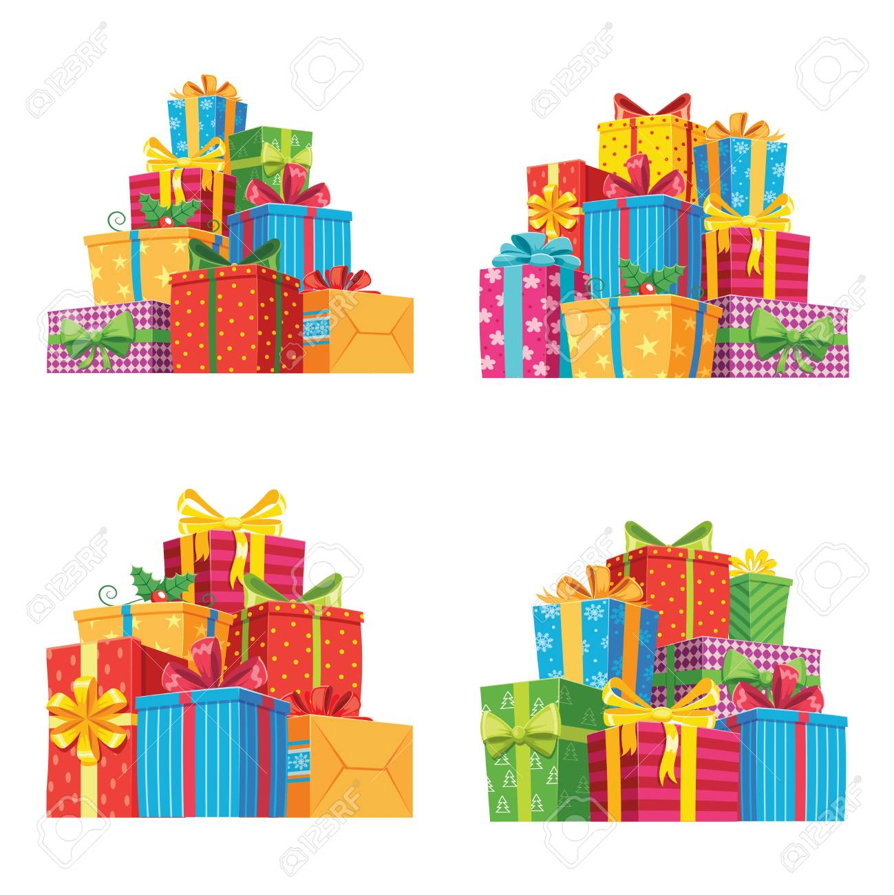 Christmas Presents In Gift Boxes Birthday Present Box Xmas