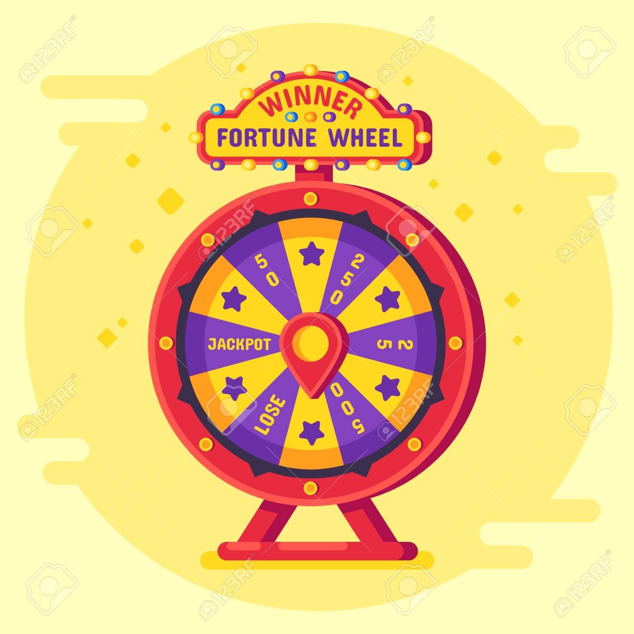 Fortune Wheel Winner Lucky Chance Spin Wheels Game Modern Turning Royalty Free Cliparts Vectors And Stock Illustration Image 110290090