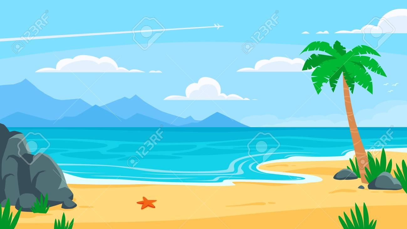 25 Ideas For Summer Beach Background Cartoon Summer Background