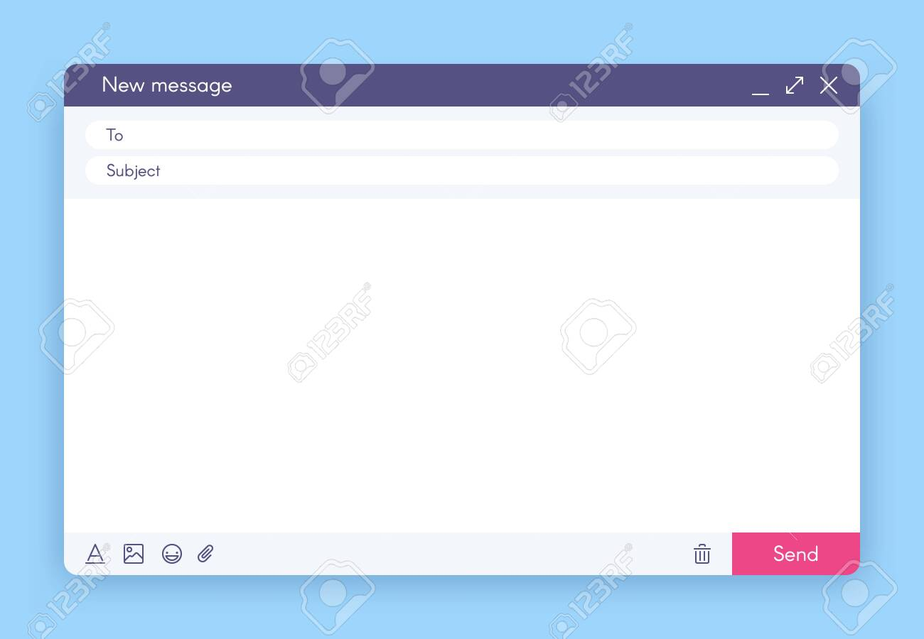 Email message window  Mail app interface, mailings emails and