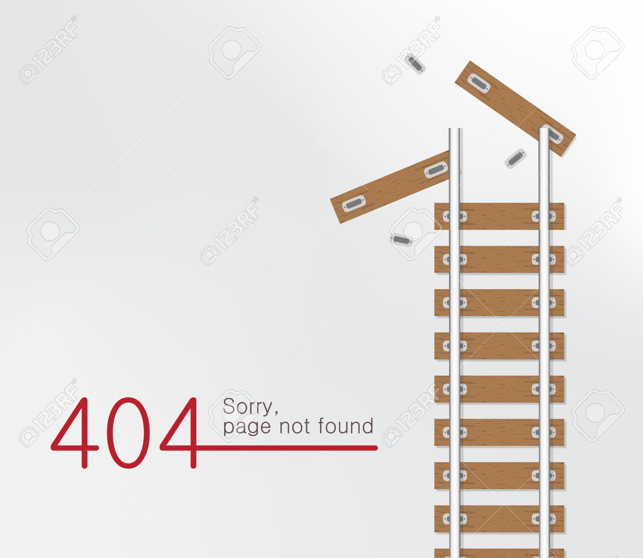 Background image 404 not found - Page Not Found Error 404 Railroad With Wooden Sleeper Background Stock Vector 55483967