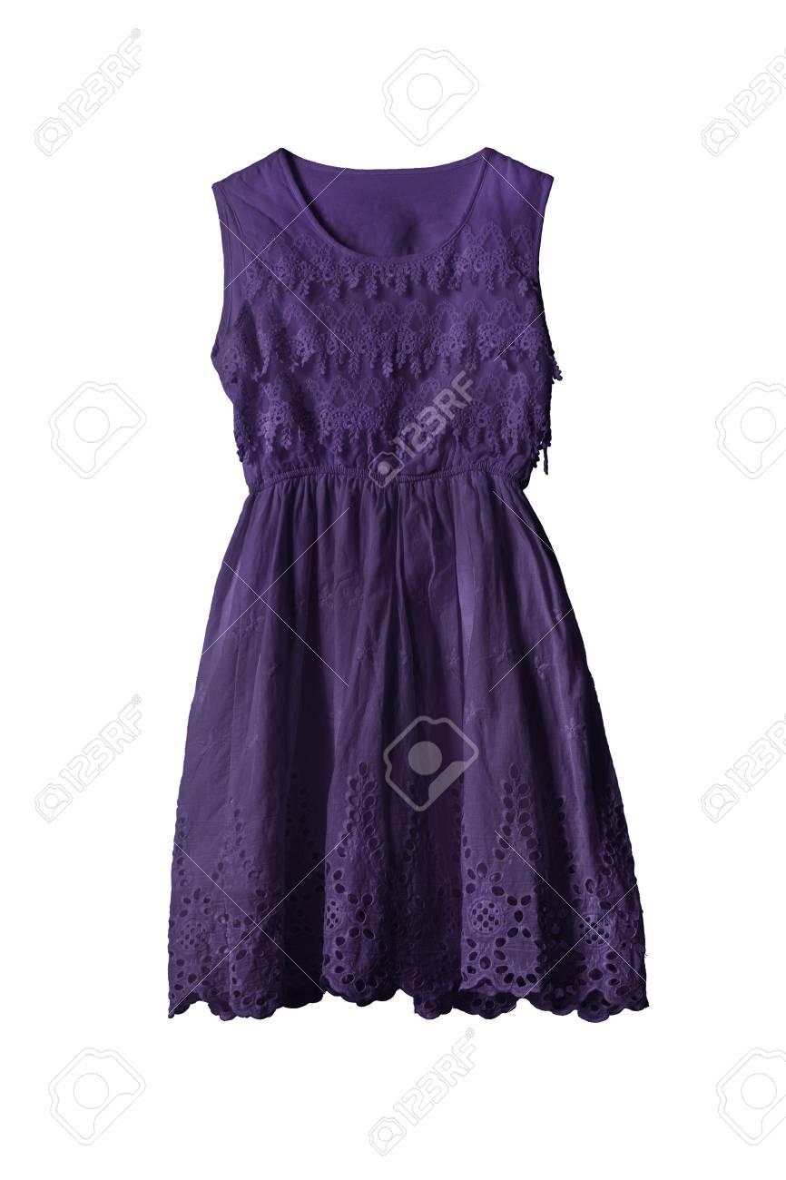 Oscuro Vestido De Encaje De Color Púrpura En El Fondo Blanco Fotos ...