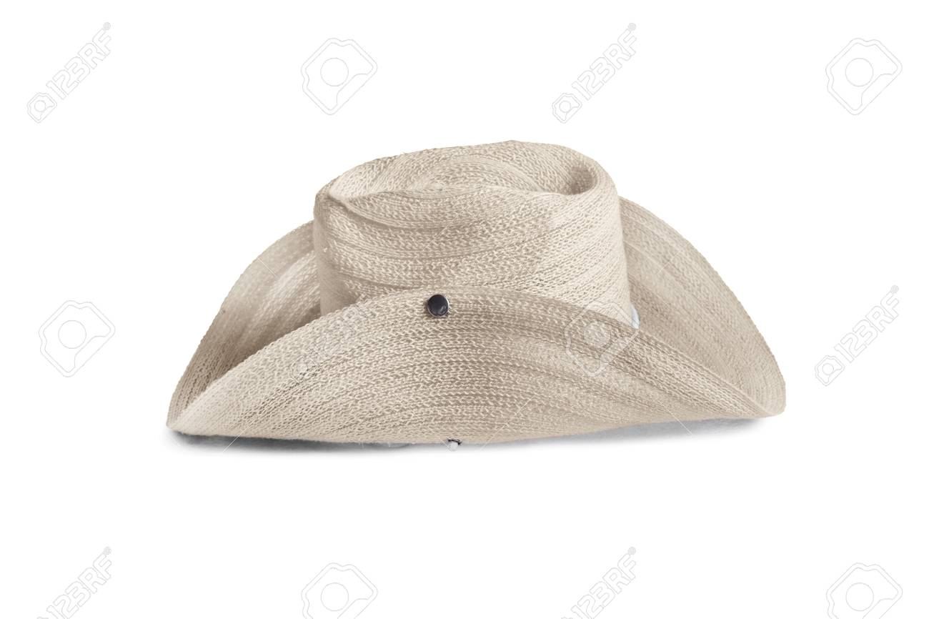 Beige stetson hat isolated over white Stock Photo - 34214154 4d7f680a386