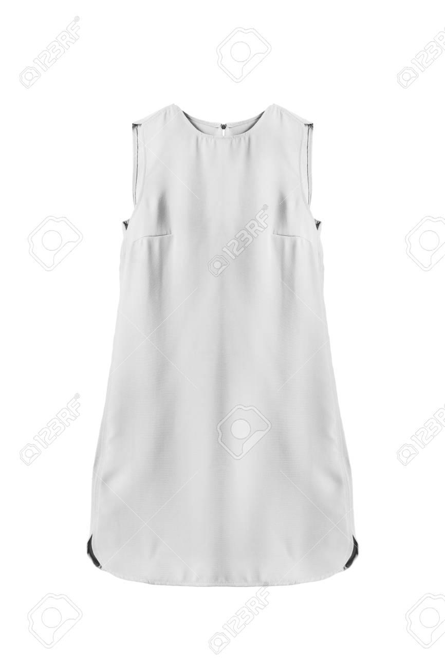 Vestido trapecio blanco Donna |