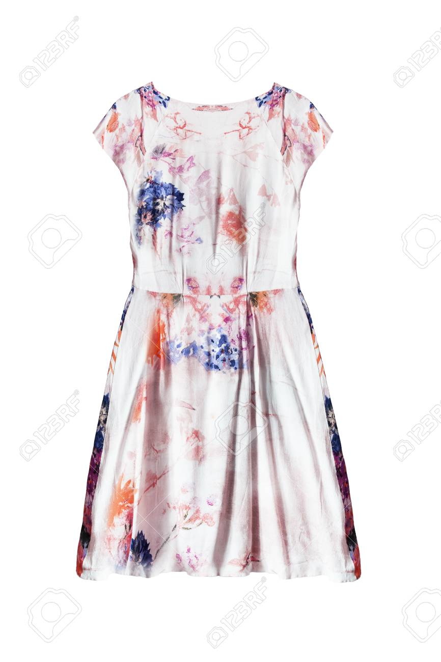 ae6f1e0e81606 Elegant silk pastel colored dress isolated over white