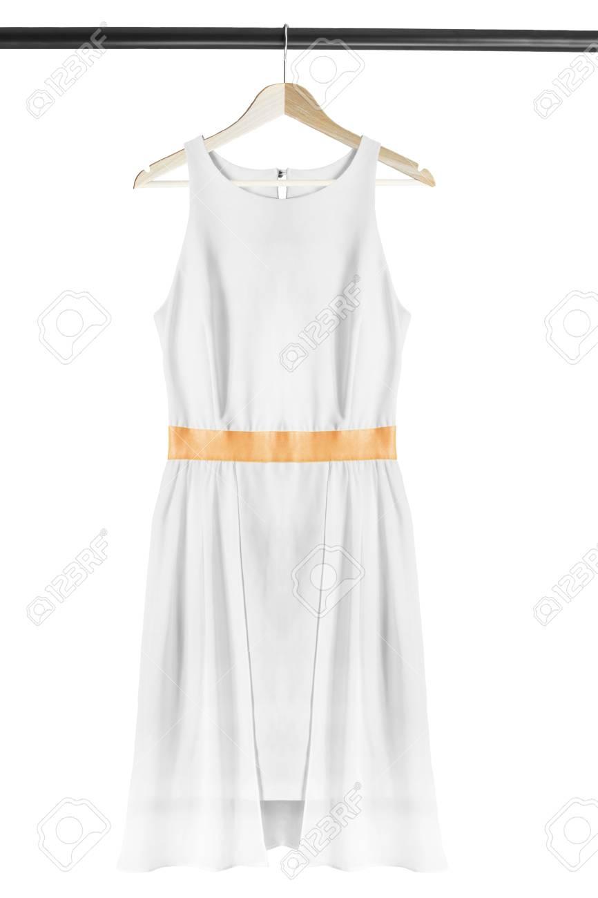 witte mouwloze jurk