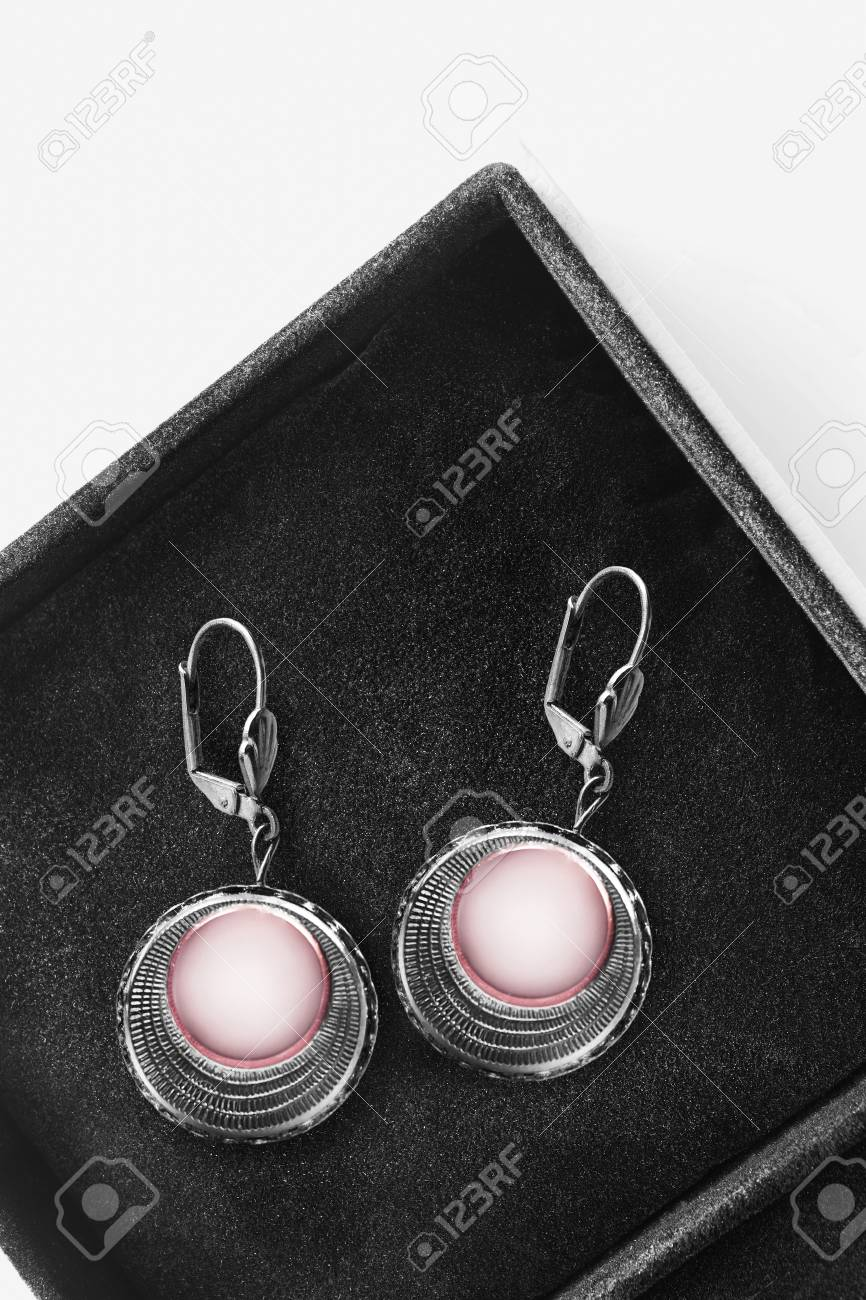 Retro Earrings Gray Jewelry Color Block Earrings Black and Gray Enamel Earrings Black Jewelry Neutral Grey and Black Earrings Casual