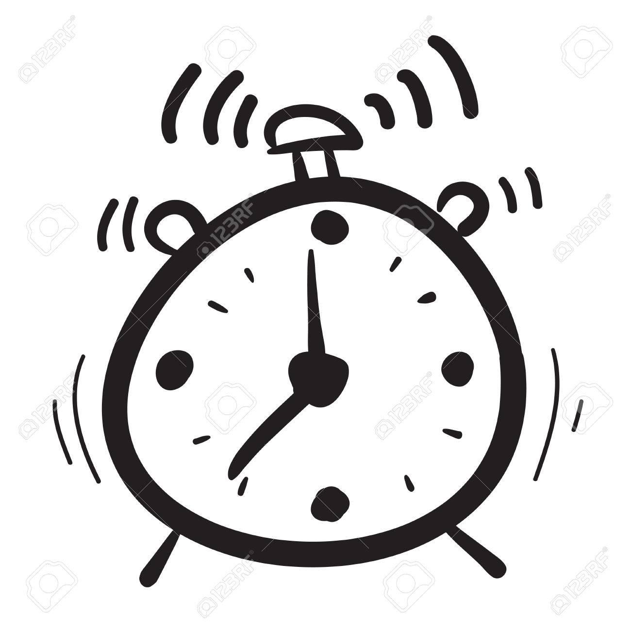 hand drawn clock icons set illustration watches time morning rh 123rf com