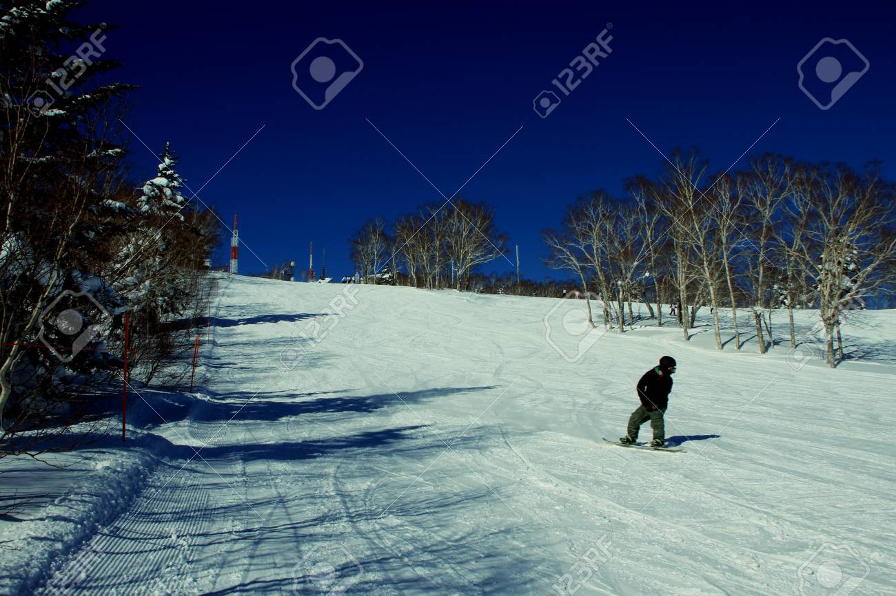 hokkaido ski resort stock photo, picture and royalty free image