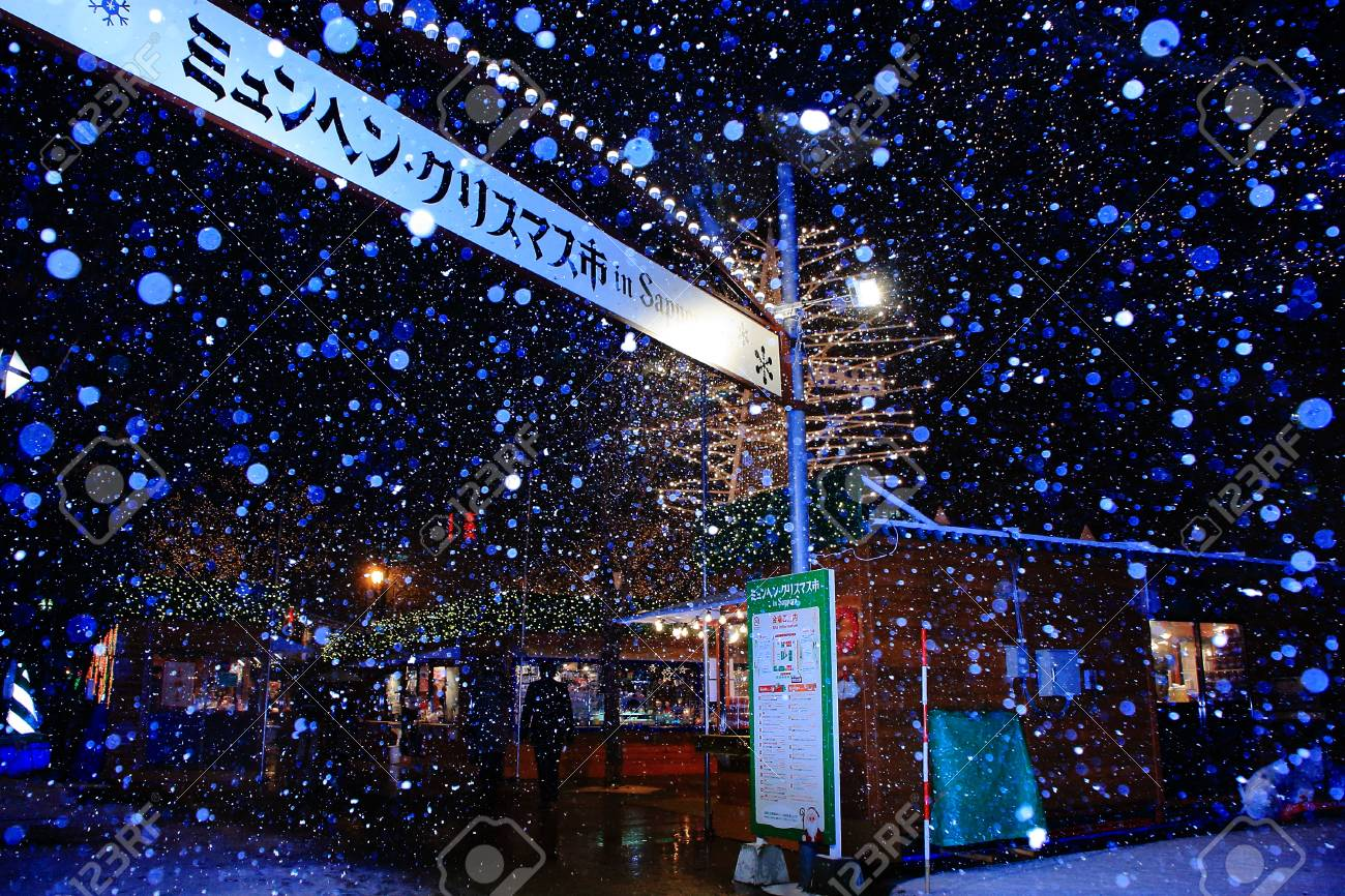 Munich Christmas Market.Munich Christmas Market In Sapporo Japan Illumination Lighting