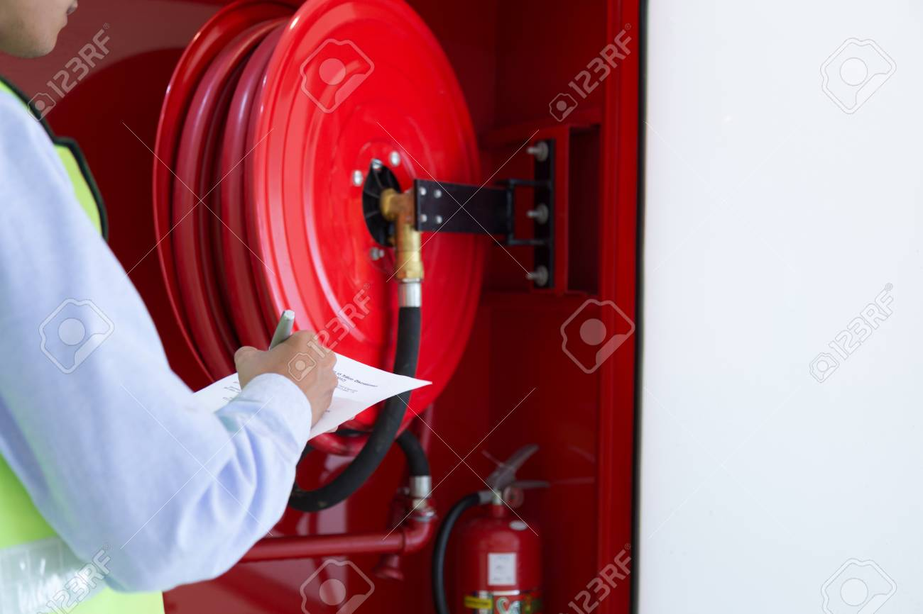 Engineer inspection Fire extinguisher and fire hose