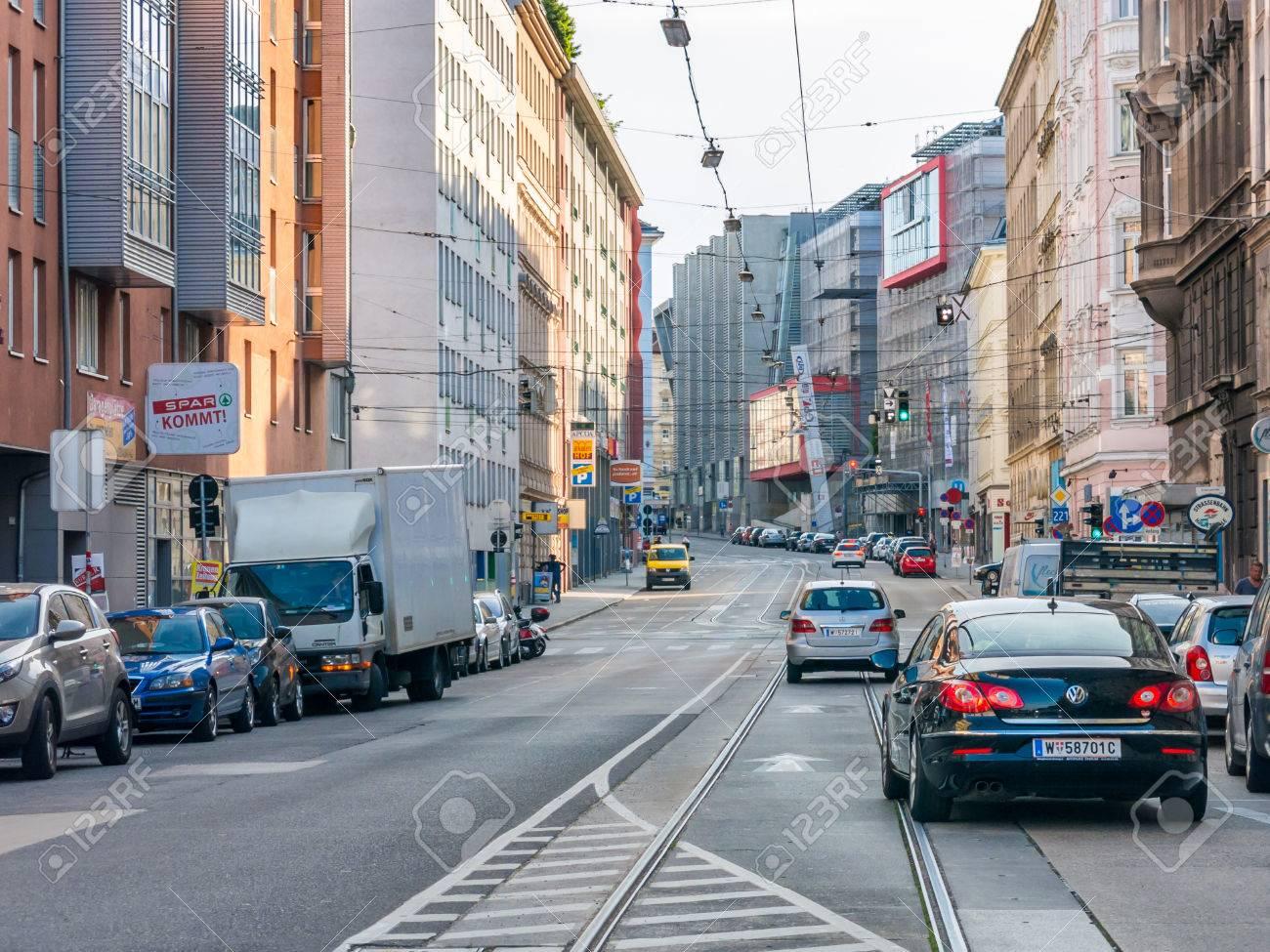 Street Scene With Traffic In Schlachthausgasse In Landstrasse