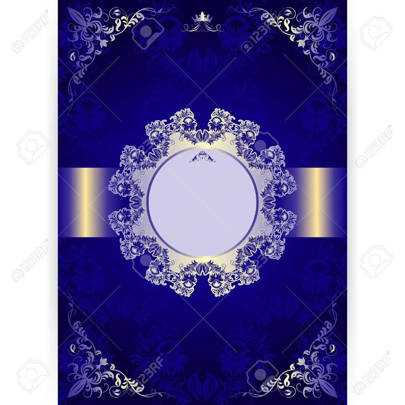 Vector royal invitation card in an old style on seamless background vector royal invitation card in an old style on seamless background stock vector 27376430 stopboris Image collections