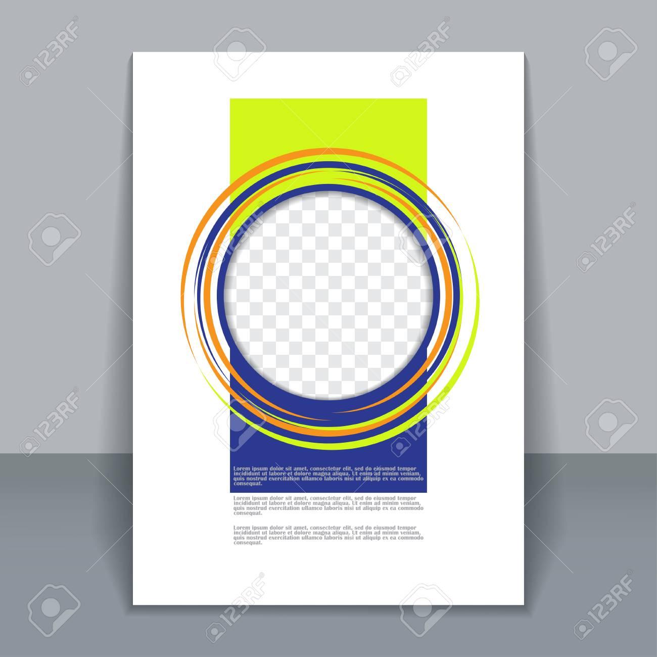 vector vertical flyer template for design editable a4 poster