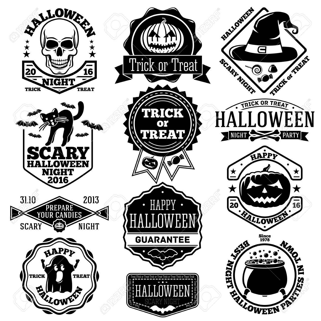 Halloween Craft Pack of 10 Badges