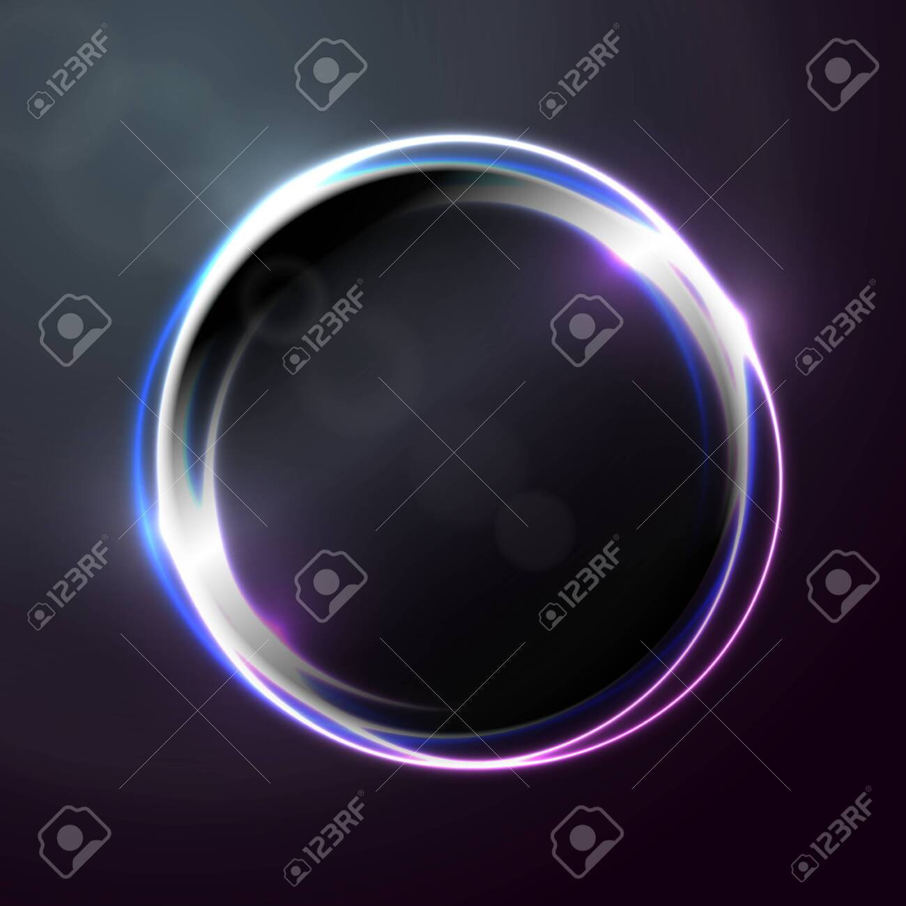 Vector abstract banner, poster design template with bright circle shape. - 128639791