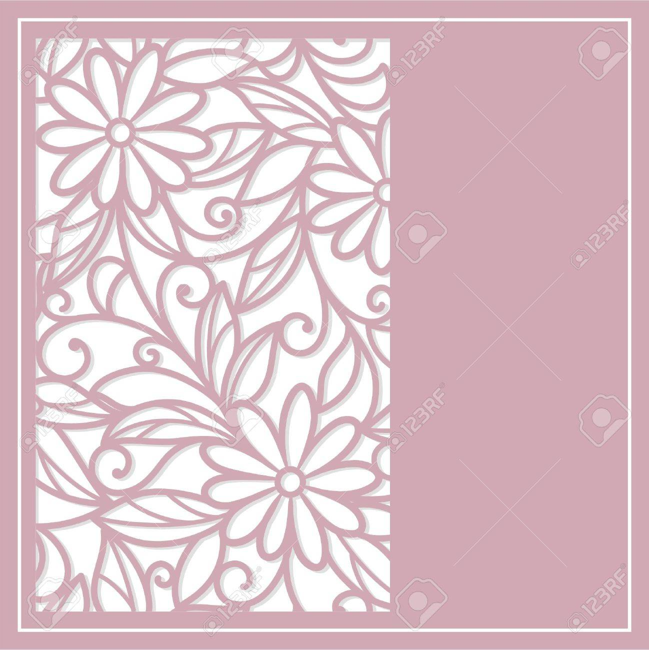 Template  frame  design for greeting card Stock Vector - 17451304