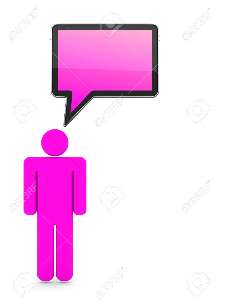 Speech Bubble-Communication 3D Concept. Isolated on White Stock Photo - 12296147