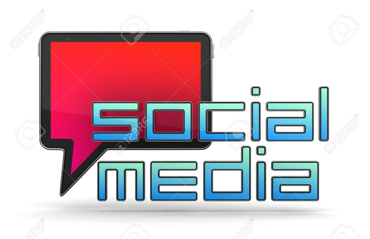Social Media Concept Isolated on White Stock Photo - 12296183