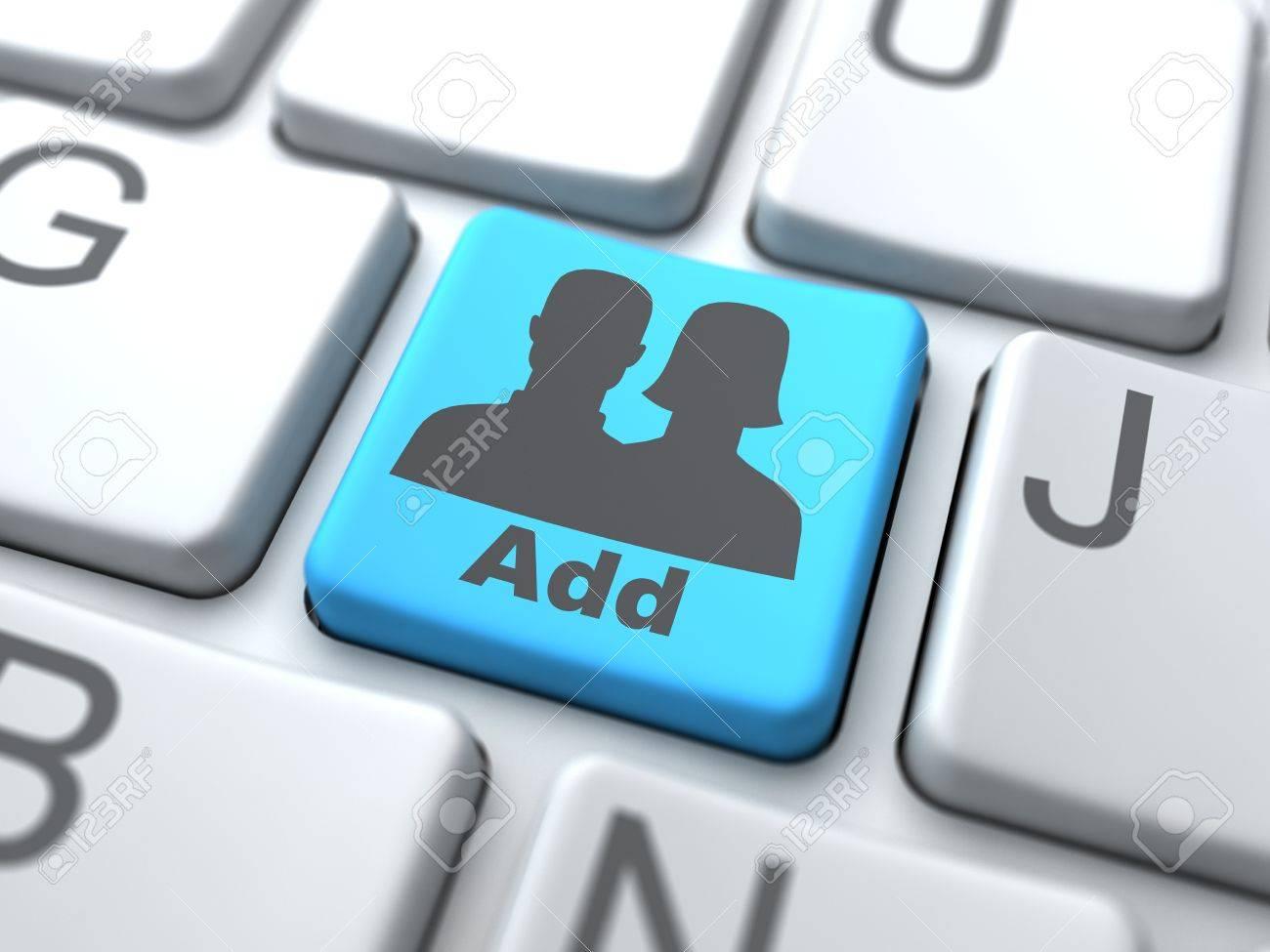 Add User Button-Social Media Concept Stock Photo - 12953390