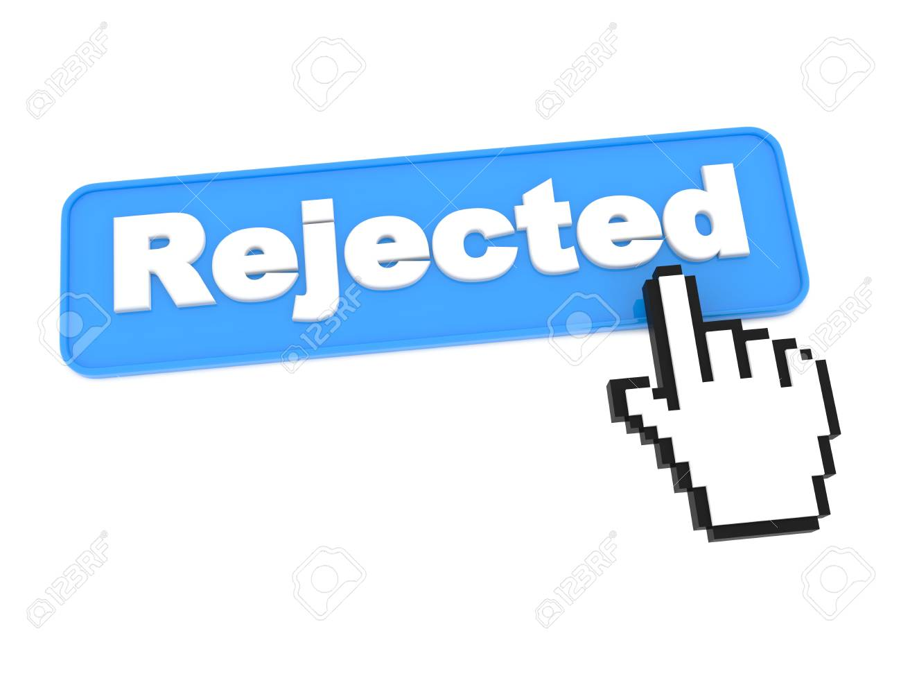 Social Media Button - Rejected. Isolated on White Background. Stock Photo - 15313465