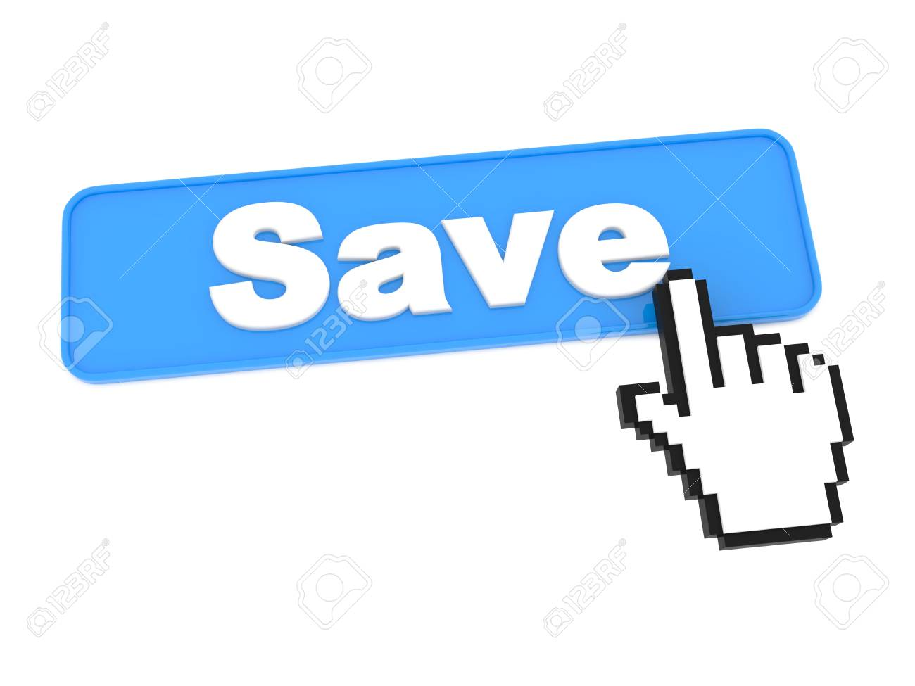 A Blue Button with Word Save on It Stock Photo - 15313489