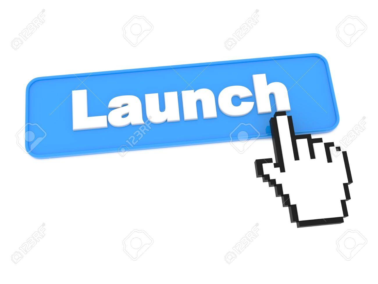 Social Media Button - Launch. Isolated on White Background. Stock Photo - 15313492