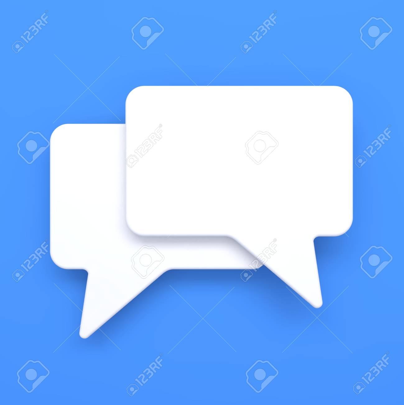 Blank Speech Bubble on Blue Background Stock Photo - 15328523