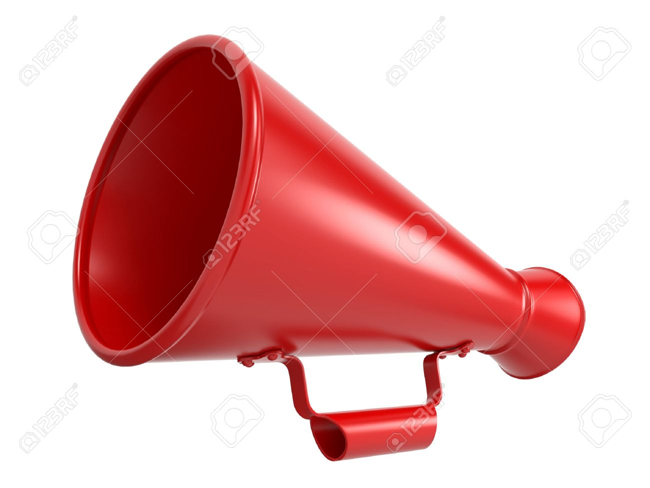 image of megaphone Red Megaphone Or Bullhorn Isolated On White Stock Photo, Picture And ...