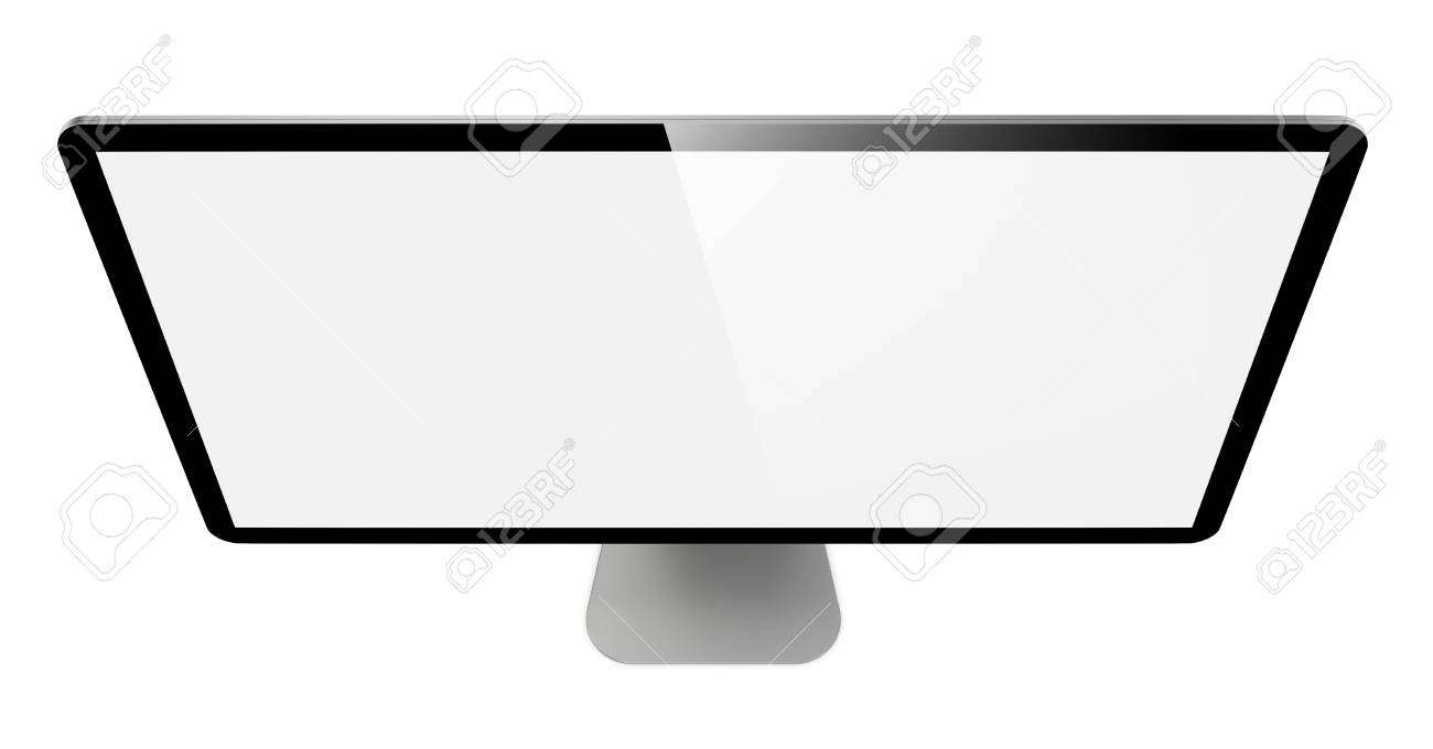 Modern Widescreen Lcd Monitor  On White Background Stock Photo - 16015279