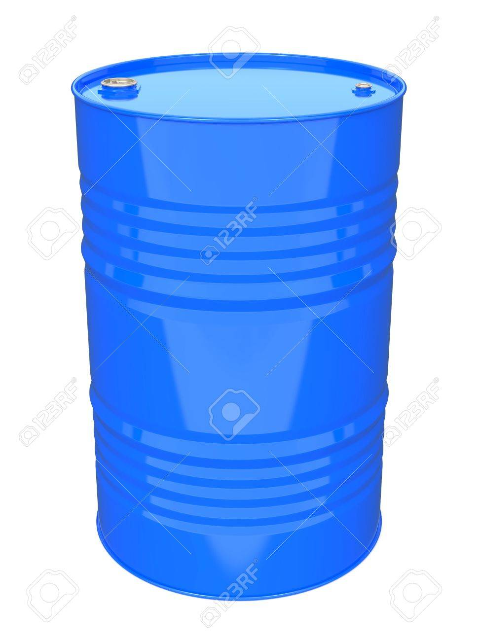 Blue Industrial Barrel  Isolated on white Stock Photo - 16457139