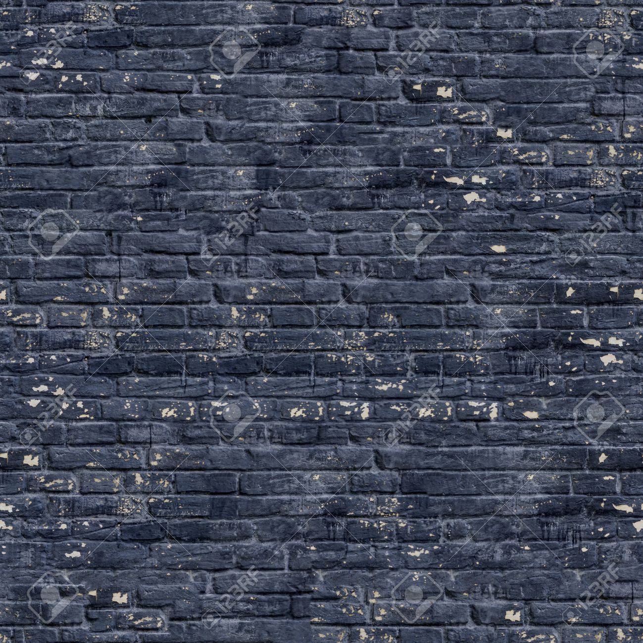 Black Brick Wall With Cracks Dirt Spots Seamless Tileable Texture