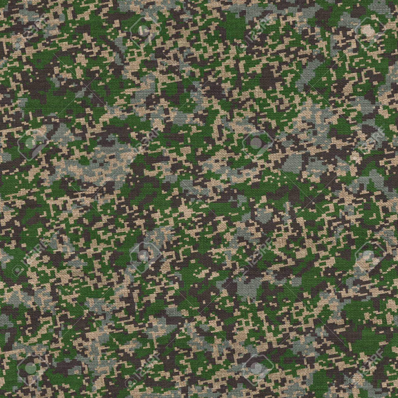 Detailed Camouflage Pattern Fabric  Seamless Tileable Texture Stock Photo - 19665876