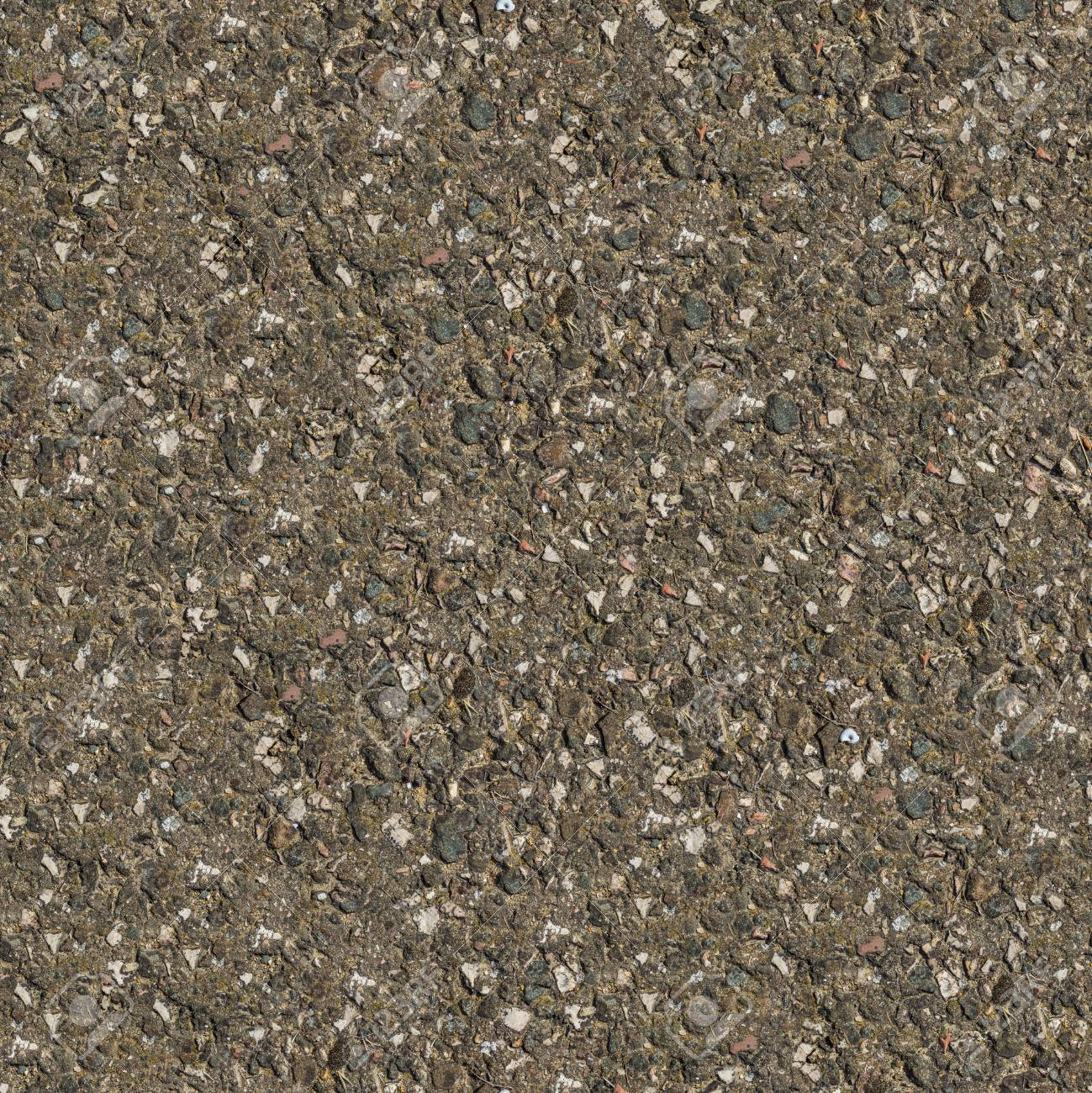 Seamless Tileable Texture of Fragment of Old Stone Country Road. Big Size. Stock Photo - 22361630