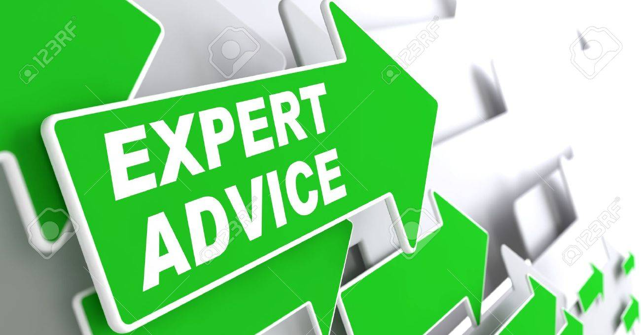 """Expert Advice - Business Concept. Green Arrow with """"Expert Advice"""" Slogan on a Grey Background. 3D Render. - 22610766"""