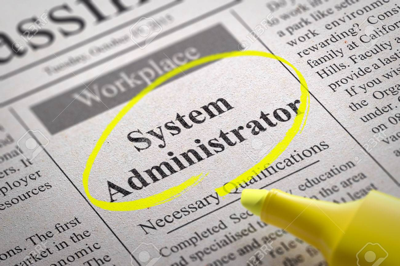 system administrator jobs in newspaper job seeking concept stock stock photo system administrator jobs in newspaper job seeking concept
