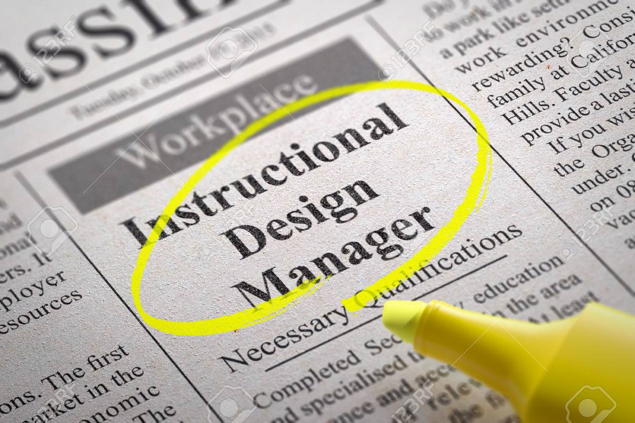 instructional desing manager jobs in newspaper job seeking instructional desing manager jobs in newspaper job seeking concept stock photo 35432999
