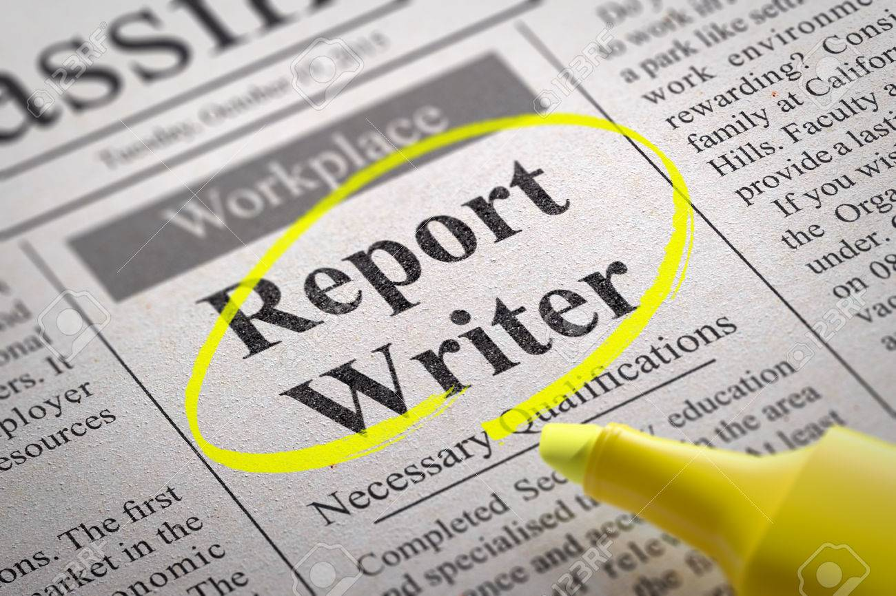 report writer vacancy in newspaper job search concept stock  report writer vacancy in newspaper job search concept stock photo 36557623